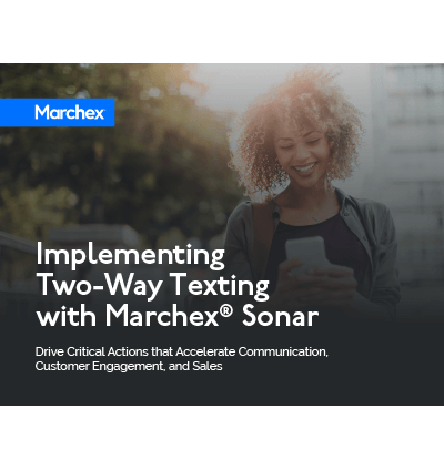 Implementing Two-Way Texting with Marchex Sonar Cover